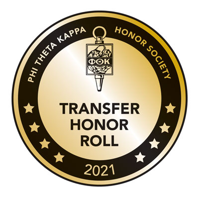 Phi Theta Kappa Honor Society 2021 honor roll